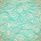 Винтажное безшовное с этническими волнами Стоковое Фото