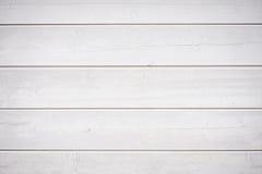 Винтажное белое взгляд сверху предпосылки деревянного стола Горизонтальные нашивки Стоковое Фото