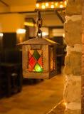 Винтажное горение лампы фонарика масла Стоковые Изображения RF