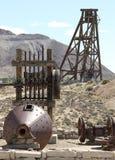 Винтажное горное оборудование золота/серебра Стоковые Фотографии RF
