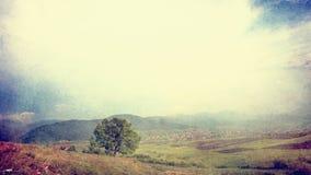 Винтажное горное село Стоковая Фотография RF