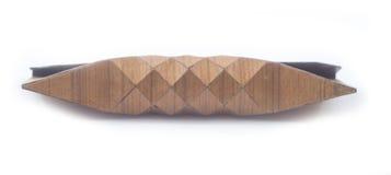 Винтажное деревянное портмоне, косметическая сумка Стоковое Изображение