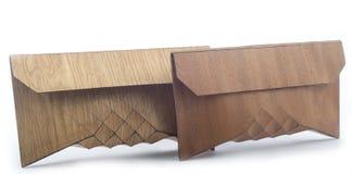 Винтажное деревянное портмоне, косметическое bagn стоковые изображения rf