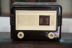 Винтажное деревянное радио Стоковое Фото