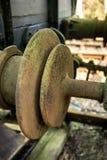 Винтажное железнодорожное соединение соединения соединения буфера Стоковое фото RF
