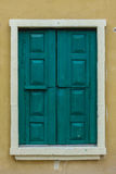 Винтажное закрытое деревянное окно Стоковые Изображения RF