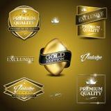 Винтажное золото эмблемы Стоковое Изображение RF