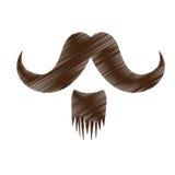 Винтажное изображение значка волос на лице Стоковые Изображения