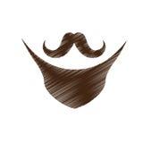 Винтажное изображение значка волос на лице Стоковая Фотография RF