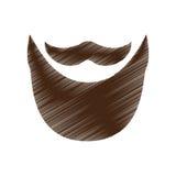 Винтажное изображение значка волос на лице Стоковая Фотография