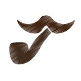 Винтажное изображение значка волос на лице Стоковое Фото