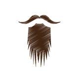 Винтажное изображение значка волос на лице Стоковое Изображение