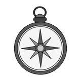 Винтажное изображение значка компаса Стоковое Изображение RF