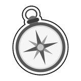 Винтажное изображение значка компаса Стоковая Фотография RF