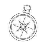 Винтажное изображение значка компаса Стоковое Изображение