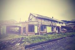 Винтажное изображение дома улицы деревни Стоковая Фотография RF