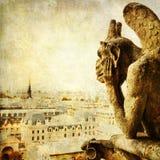 Винтажное изображение стиля горгульи в Париже Стоковые Изображения RF