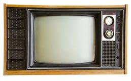 Винтажное изолированное телевидение стоковое изображение rf