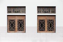 Винтажное китайское окно Стоковое Изображение RF