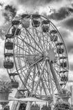 Винтажное колесо ferris на парке атракционов Tibidabo, Барселоне, Cata стоковое фото