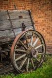 Винтажное колесо телеги Стоковое Фото