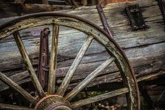 Винтажное колесо телеги Стоковые Фотографии RF