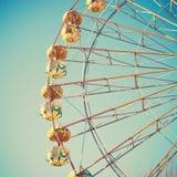 Винтажное колесо Ferris стоковое изображение rf
