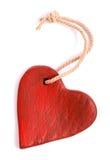 Винтажное красное изолированное сердце Стоковые Изображения