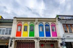 Винтажное красочное окно Стоковые Фото