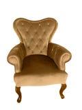 Винтажное кресло бархата стоковые фотографии rf