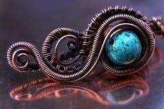 Винтажное медное ожерелье ювелирных изделий Стоковое фото RF