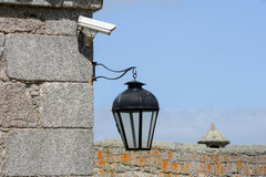 Винтажное наблюдение фонарика и видео на colonial Санты Терезы Стоковое Фото