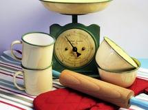 Винтажное оборудование кухни. Стоковые Фотографии RF