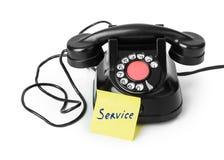 Винтажное обслуживание телефона и бумаги Стоковая Фотография