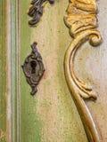 Винтажное отверстие для ключа мебели Стоковая Фотография