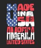 Винтажное оформление джинсовой ткани, американские графики футболки Бесплатная Иллюстрация