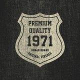 Винтажное оформление джинсовой ткани, графики футболки grunge Стоковое Изображение