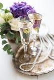 Винтажное оформление свадьбы Стоковое Изображение RF