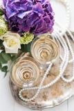 Винтажное оформление свадьбы Стоковое Фото