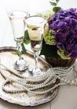 Винтажное оформление свадьбы Стоковые Изображения