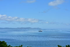 Винтажное парусное судно на штиле на море Стоковое Фото