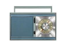 Винтажное портативное изолированное радио стоковое изображение rf