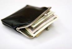 Винтажное портмоне с деньгами Стоковые Изображения