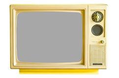 Винтажное сетноое-аналогов телевидение Стоковое Фото