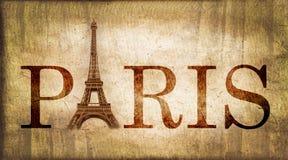 Винтажное слово Париж Стоковое Изображение