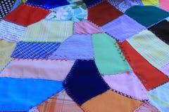 Винтажное также вызванное лоскутное одеяло, шальным лоскутным одеялом Стоковые Фото
