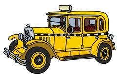 Винтажное такси Стоковая Фотография