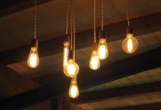 Винтажное украшение шариков нити Edison стоковое изображение rf