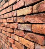 Винтажное фоновое изображение стены кирпичей стоковые фотографии rf
