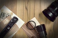 Винтажное фотографическое оборудование Стоковые Изображения